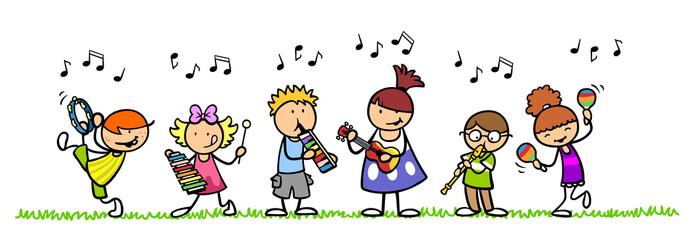 Kinder machen Musik bei musikalischer Früherziehung
