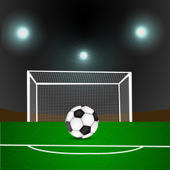 Illustration of soccer sport background
