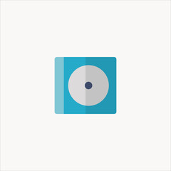 compact disc icon flat design