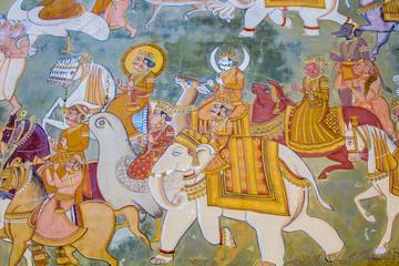 Fresco outside Mehrangarh Fort
