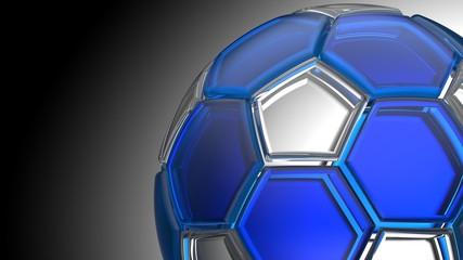 Soccer ball. 3D illustration. 3D CG. High resolution.