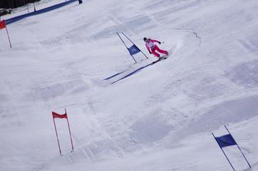 ski de descente - slalom