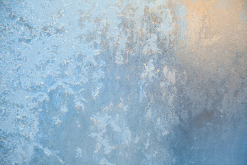 beautiful winter texture patterns of frost on window