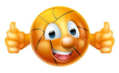 Cartoon Basketball Ball Mascot