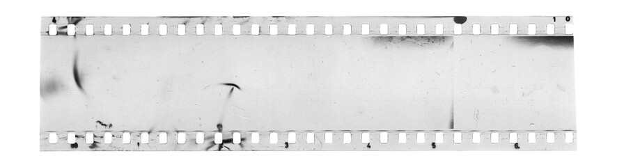 Strip of old celluloid film