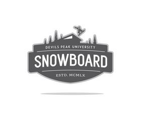 snowboard college BW
