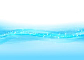 抽象的なブルーの背景(波、曲線)