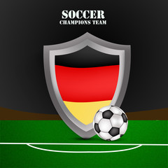 Illustration of Germany flag participating in soccer tournament