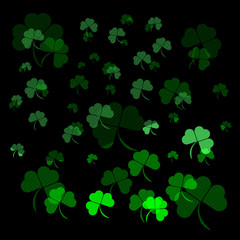 Abstract pattern st patricks day on black background vector illustration
