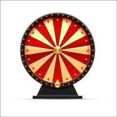 wheel of fortune 3d object isolated on white