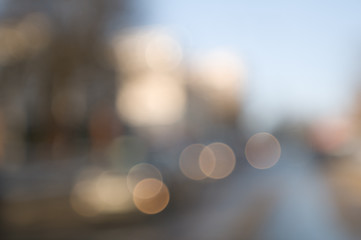 Traffic abstract background with blurry