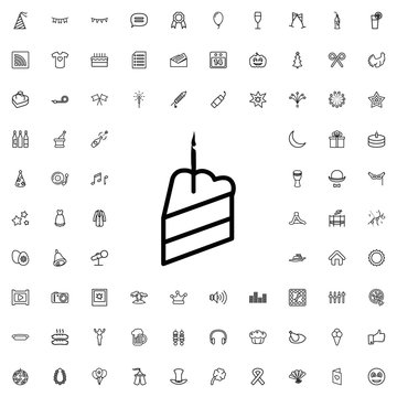 piece of cake icon illustration