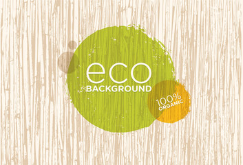 Spa Retreat Organic Eco Background. Nature Friendly Vector Concept Wall mural