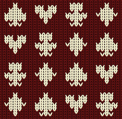 Knitted poker seamless pattern, vector illustration