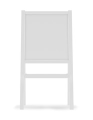 Sandwich board isolated on white - 3d illustration rendering.