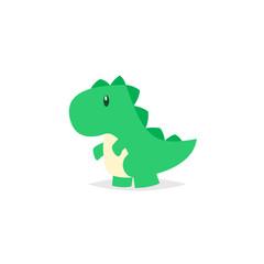 Cute dinosaur tyrannosaurus cartoon vector