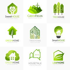 Tree house logo templates.