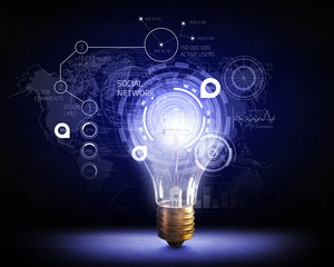 Innovative technology ideas . Mixed media