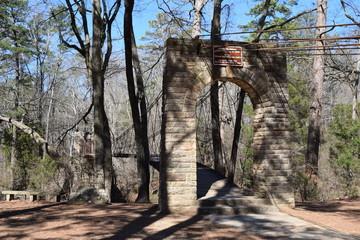 Suspension Bridge in Tishomingo State Park Mississippi