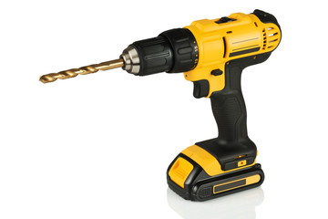 cordless drill with a drill
