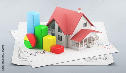 Casa 3d con progetti edilizi e grafici istogramma for Progetti in 3d gratis