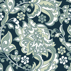 floral seamless pattern. vintage vector background