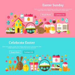 Easter Sunday Website Banners