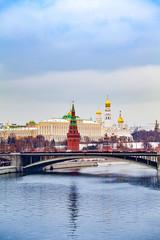 Foto op Canvas Moskou The Kremlin, Moscow, Russia. kremlin in winter