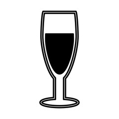 wine cup silhouette isolated icon vector illustration design