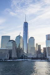 Manhattan Skyline, with the new world trade centre; New York City, New York, United States of America