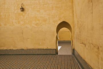 A traditional entrance; Meknes, Morocco