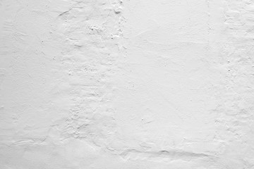 Fototapete - Rough white concrete wall with plaster