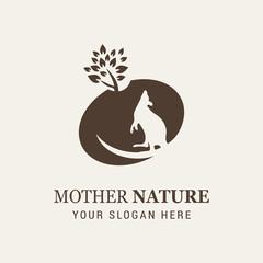 Kangaroo Mother Nature Logo