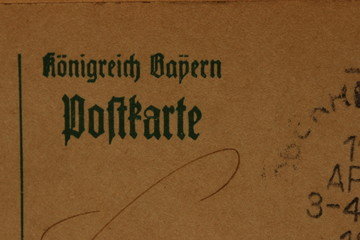 Remembering the old times, Teil einer antiken Postkarte um 1900, Königreich Bayern