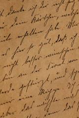 Old private letter in German written in 1916, alter handgeschriebener Brief von 1916; erster Weltkrieg