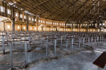 Interior of derelict prison, Presidio Modelo, Cuba, South America