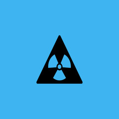Sign toxic. Warning radioactive zone in triangle icon. flat design