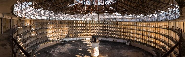 Exterior of derelict prison, Presidio Modelo, Cuba, South America