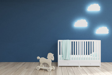 Baby's room, blue walls