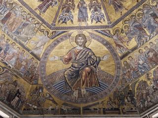 Magnificent mosaic ceiling of the Baptistry of San Giovanni, Florence