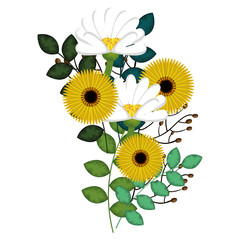 cute flower decoration icon vector illustration design