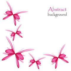 Abstract background with pink butterflies