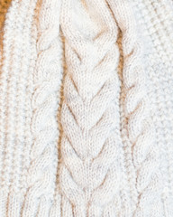 White knitted fabric large