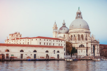 views of the Grand Canal and the Basilica Santa Maria