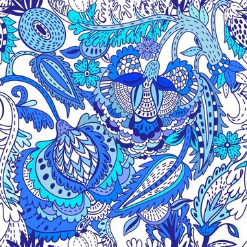 Oriental Vetor Floral pattern.