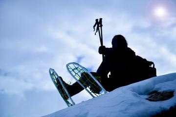 kar hedikleri ve dağcı