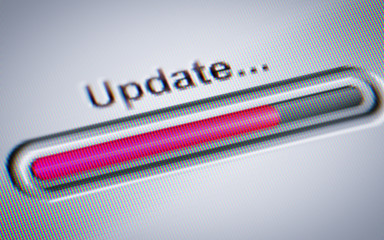 Process of Updating on a screen.