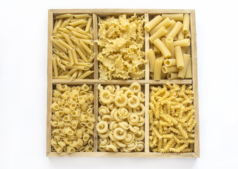 Assortment of fresh Italian pasta