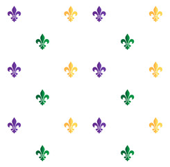 Carnival, Festival, Masquerade poster, invitation pattern design. Mardi Gras Carnival pattern with fleur-de-lis. Mardi Gras endless background, texture, wrapper. Vector Vintage ornament