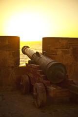 Kanone am Meer